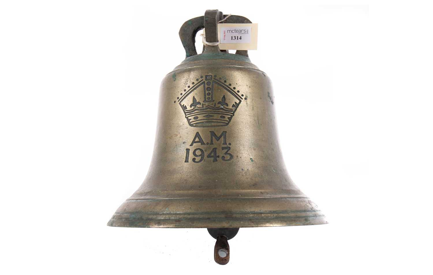 Lot 1314 - A WWII AIR MINISTRY R.A.F. SCRAMBLE BELL