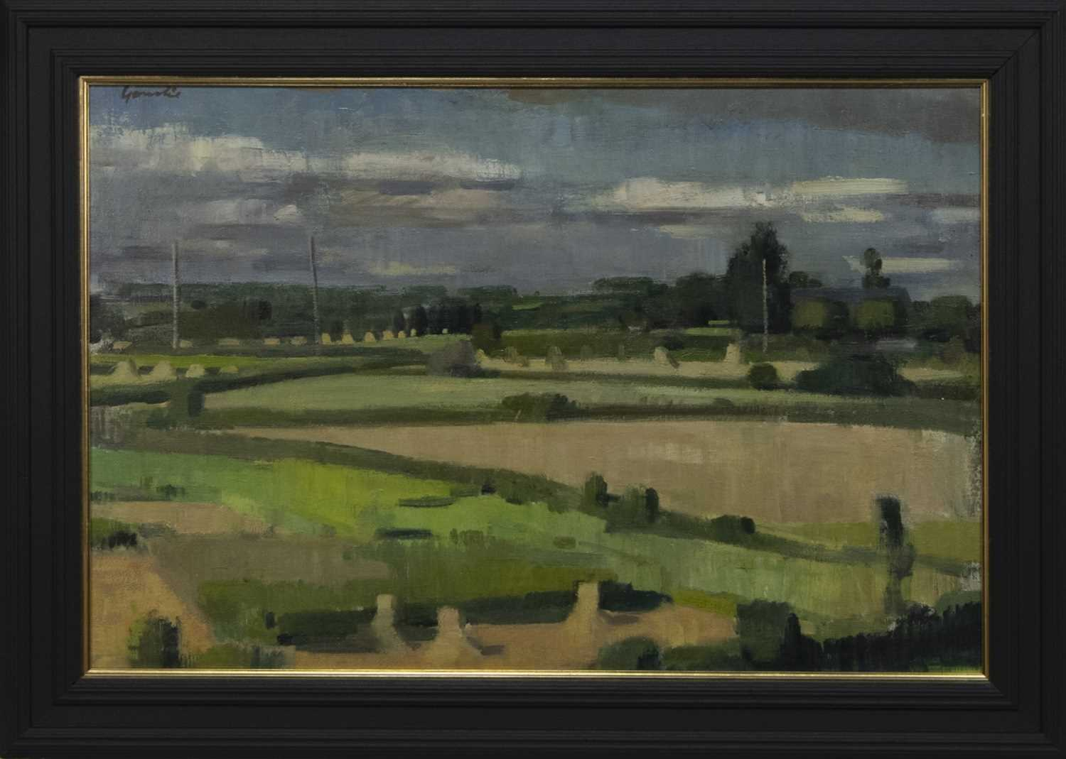 Lot 512 - BRITTANY LANDSCAPE, AN OIL BY ALEXANDER GOUDIE