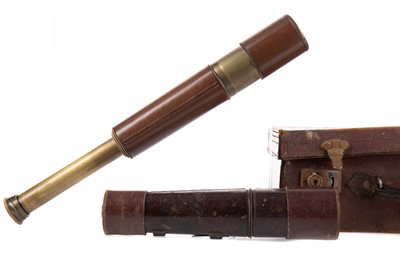 Lot 1149 - A MILITARY TELESCOPE AND ANOTHER