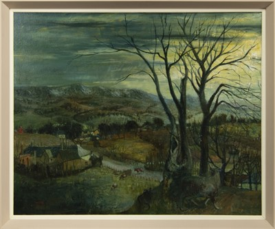Lot 585 - THE CAMPSIES FROM BALFRON, AN OIL BY WILLIAM BIRNIE