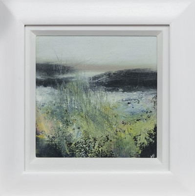 Lot 766 - SPRING MORNING, HEBRIDES, AN OIL BY MAY BYRNE