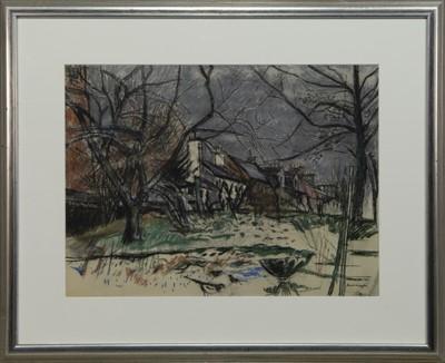 Lot 653 - WINTER GARDEN, EAGLESHAM, A PASTEL BT DAVID MCLEOD MARTIN