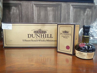 Lot 75A - DUNHILL OLD MASTER 5 FINEST SCOTCH WHISKY MINIATURES