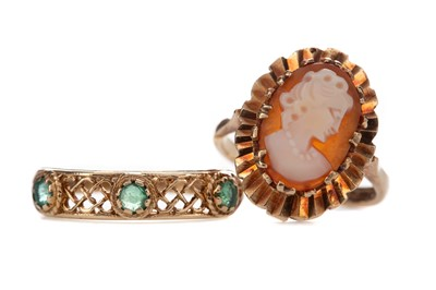 Lot 817 - TWO GOLD RINGS