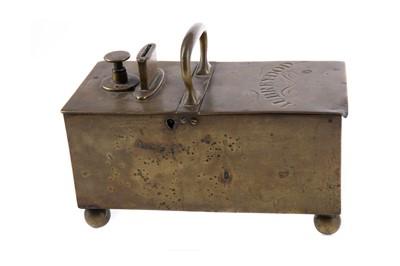 Lot 1335 - A VICTORIAN RICH'S PATENT TAVERN HONESTY TOBACCO BOX