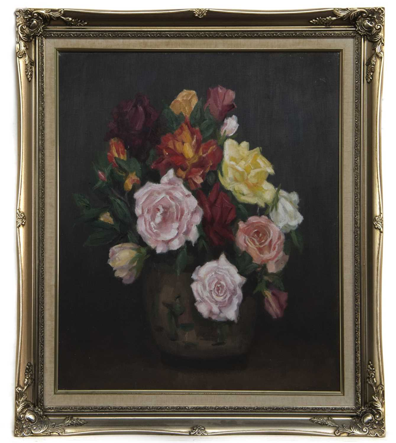 Lot 86 - FLORAL STILL LIFE, AN OIL BY WILLIAM WRIGHT CAMPBELL