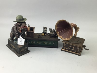 Lot 45 - A COLLECTION OF REPRODUCTION CAST IRON NOVELTY COIN BANKS