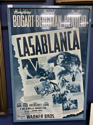 Lot 50 - A CASABLANCA POSTER