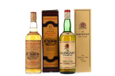 Lot 247 - GLENMORANGIE TEN YEARS OLD, AND GLENLIVET AGED 12 YEARS