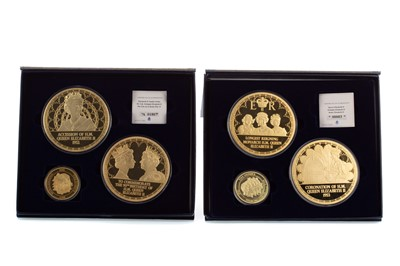 Lot 45 - TWO SETS OF COMMEMORATIVE QUEEN ELIZABETH II COIN SETS