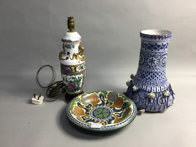 Lot 65 - A PAIR OF CHINESE VASE LAMPS AND OTHERS