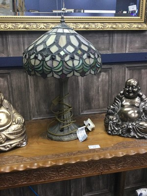 Lot 82 - A TIFFANY STYLE TABLE LAMP