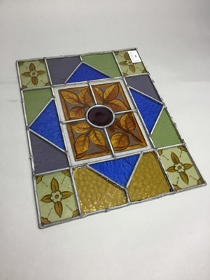 Lot 86 - A LOT OF TWO LEADED GLASS PANELS