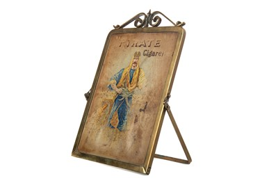 Lot 1354 - AN EARLY 20TH CENTURY PIRATE CIGARETTES ADVERTISING MIRROR