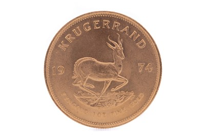 Lot 65 - A GOLD KRUGERRAND DATED 1974