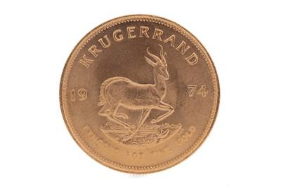 Lot 70 - A GOLD KRUGERRAND DATED 1974