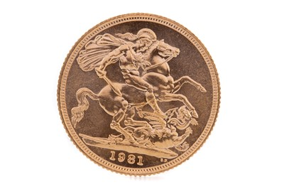 Lot 74 - AN ELIZABETH II GOLD SOVEREIGN DATED 1981