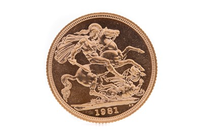 Lot 76 - AN ELIZABETH II GOLD SOVEREIGN DATED 1981