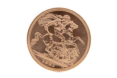 Lot 78 - AN ELIZABETH II GOLD SOVEREIGN DATED 1981