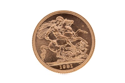 Lot 79 - AN VELIZABETH II GOLD SOVEREIGN DATED 1981