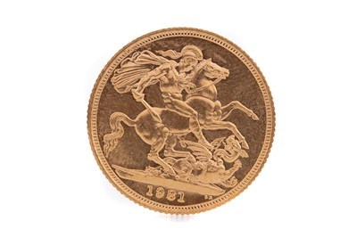 Lot 80 - AN ELIZABETH II GOLD SOVEREIGN DATED 1981
