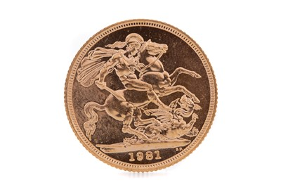 Lot 84 - AN ELIZABETH II GOLD SOVEREIGN DATED 1981