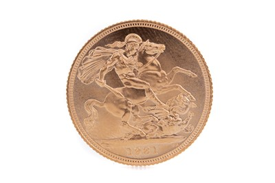 Lot 86 - AN ELIZABETH II GOLD SOVEREIGN DATED 1981