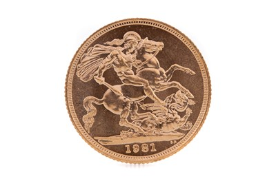 Lot 87 - AN ELIZABETH II GOLD SOVEREIGN DATED 1981