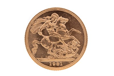 Lot 88 - AN ELIZABETH II GOLD SOVEREIGN DATED 1981