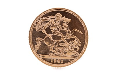Lot 91 - AN ELIZABETH II GOLD SOVEREIGN DATED 1981