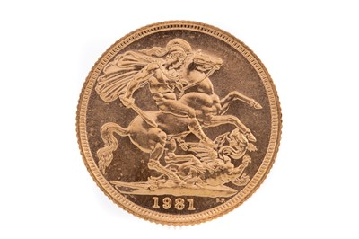 Lot 92 - AN ELIZABETH II GOLD SOVEREIGN DATED 1981