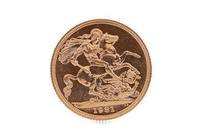 Lot 95 - AN ELIZABETH II GOLD SOVEREIGN DATED 1981