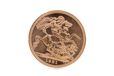 Lot 96 - AN ELIZABETH II GOLD SOVEREIGN DATED 1981
