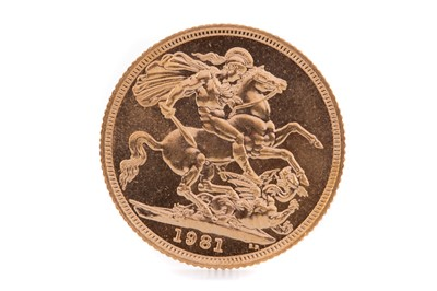 Lot 97 - AN ELIZABETH II GOLD SOVEREIGN DATED 1981