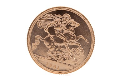 Lot 99 - AN ELIZABETH II GOLD SOVEREIGN DATED 1981