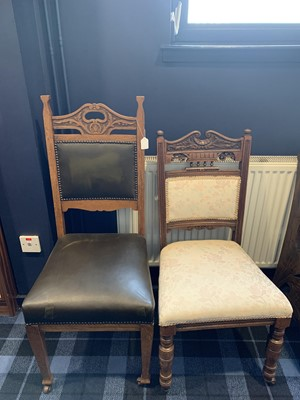 Lot 58 - A LOT OF TWO VICTORIAN CHAIRS