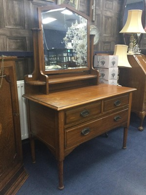 Lot 78 - A LATE 19TH CENTURY DRESSING CHEST