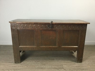 Lot 1360 - A LATE 17TH CENTURY OAK BLANKET CHEST