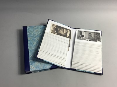 Lot 34 - A LOT OF TWO FOLDERS OF CIRCA WWI POSTCARDS