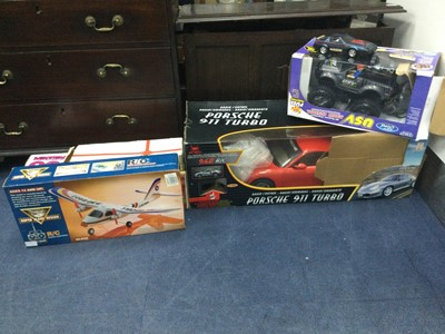Lot 19 - A REMOTE CONTROL PORCHE AND OTHER MODEL VEHICLES
