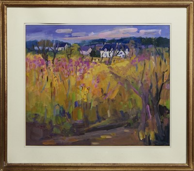 Lot 513 - ROSE BAY - EMBANKMENT, AN OIL BY ENID FOOTE WATTS