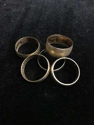 Lot 2 - A LOT OF FIVE NINE CARAT GOLD WEDDING RINGS