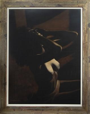 Lot 582 - MORNING GLORY, AN ACRYLIC BY BILL BLACKWOOD