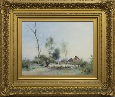 Lot 142 - A NEW MOON, A WATERCOLOUR BY ADRIANUS JOHANNES GROENEWEGEN
