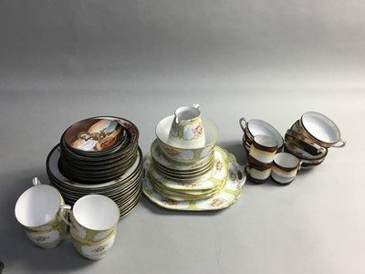 Lot 80 - A NORITAKE PART TEA SERVICE AND GROUP OF EGGSHELL CHINA