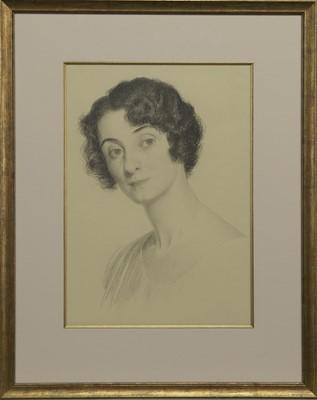 Lot 146 - THE ARTIST'S WIFE, A PENCIL BY JOHN BULLOCH SOUTER