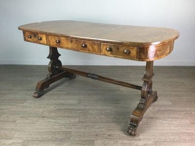 Lot 1373 - A VICTORIAN MAHOGANY LIBRARY TABLE