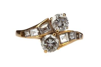 Lot 822 - A PARTIAL DIAMOND DRESS RING