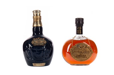 Lot 1 - CHIVAS REGAL ROYAL SALUTE AGED 21 YEARS, AND WHYTE & MACKAY AGED 21 YEARS
