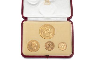 Lot 20 - A GEORGE VI 1937 GOLD FOUR COIN SPECIMEN SET